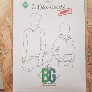 Patron Le Sweat le Décontracté Junior- Les BG
