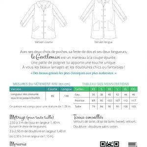 Patron manteau Le gentleman – Les BG