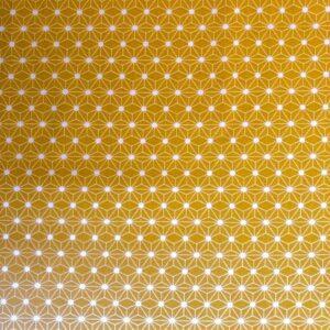 coton geometrique jaune